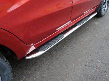 Lada XRAY(x-ray) 2016-Пороги овальные гнутые с накладкой 75х42 мм